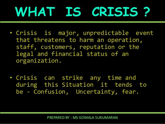 Crisis Management and Communications (Updated September 2014)