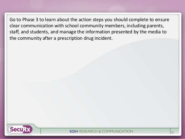 Go to Phase 3 to learn about the action steps you should complete to ensure  clear communication with school community mem...