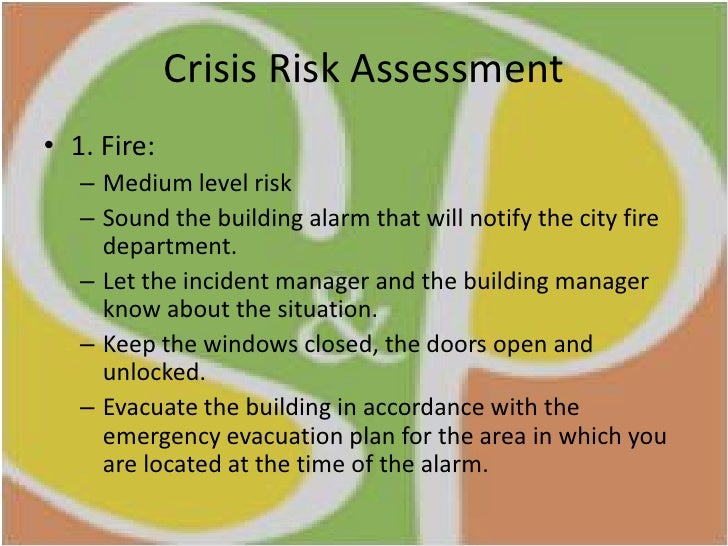 crisis and risk management Understand the risk and responsibility involved with this career choice  the  sexy allure of crisis management presents risk to organizations.