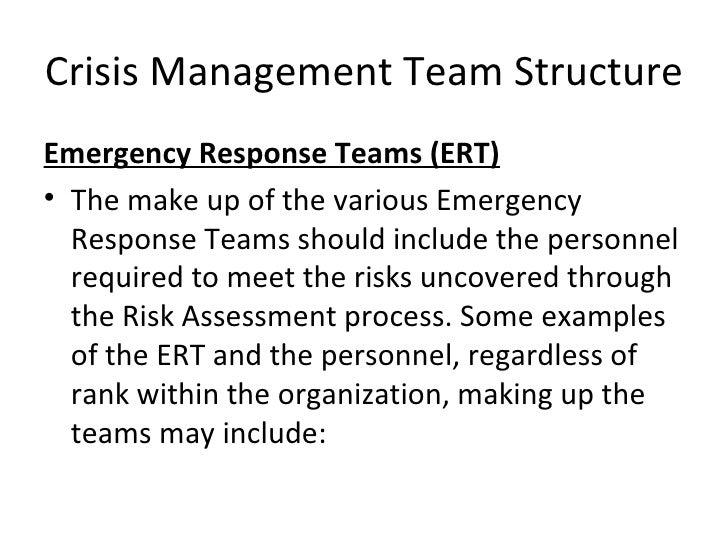 Crisis Management Team Structure Training