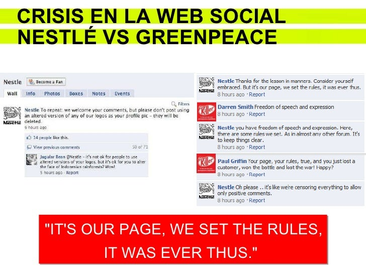Nestle mess shows sticky side of Facebook pages