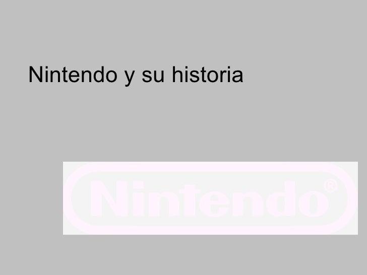 Nintendo y su historia