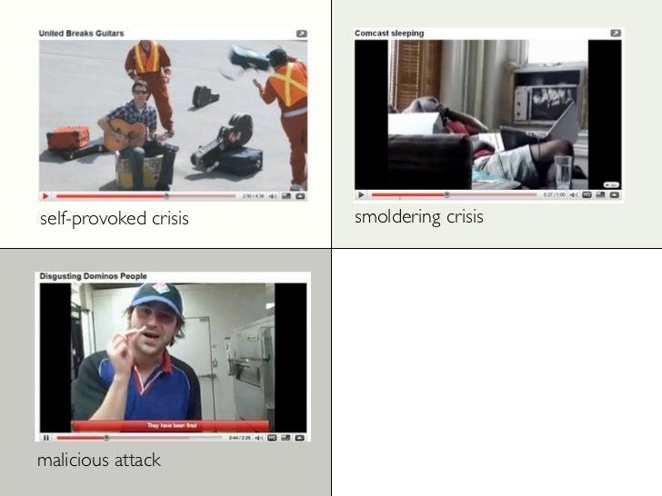 self-provoked crisis   smoldering crisis     malicious attack