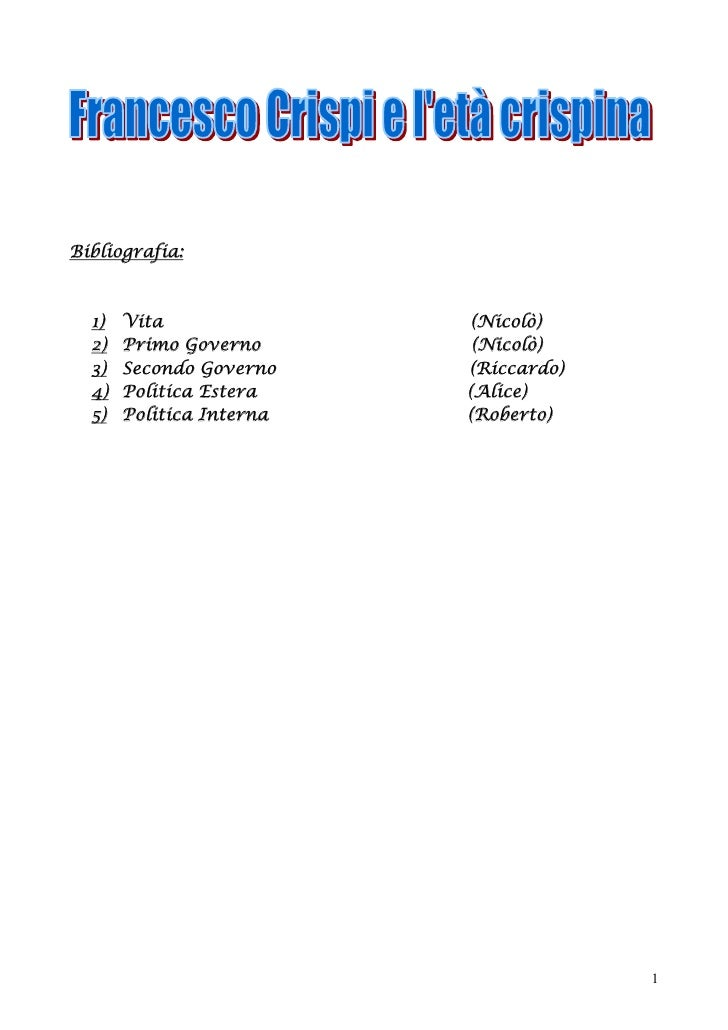 Bibliografia:      1)   Vita                (Nicolò)   2)   Primo Governo       (Nicolò)   3)   Secondo Governo    (Riccar...