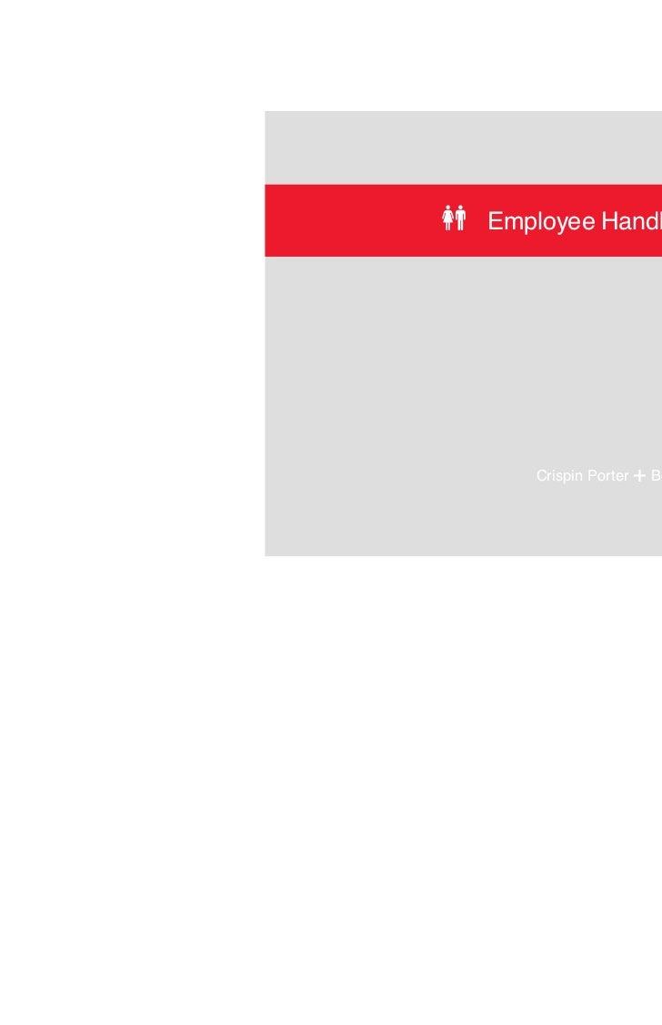 Employee Handbook   Crispin Porter   + Bogusky