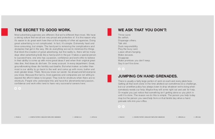 THE SECRET TO GOOD WORK.                                                                              WE ASK THAT YOU DON'...