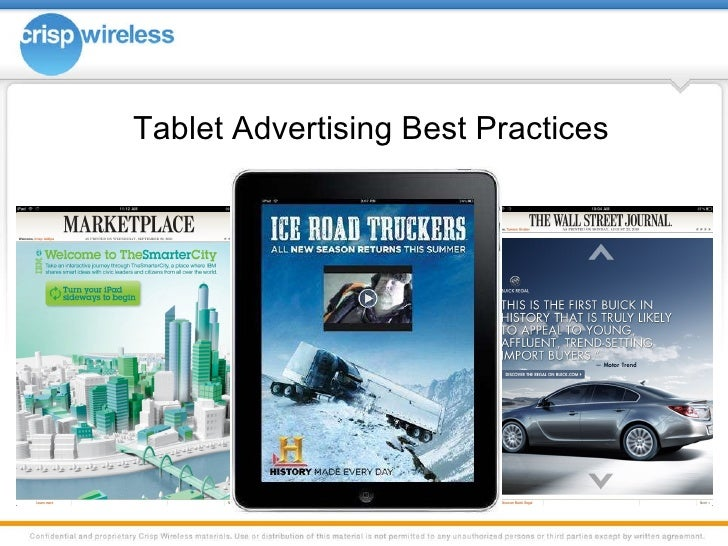 Tablet Advertising Best Practices