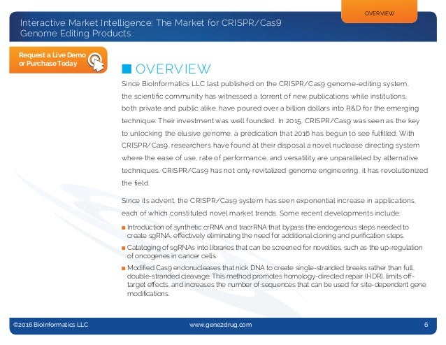 @2013 BioInformatics, LLC n www.gene2drug.com n Report #13-005 ©2016 BioInformatics LLC www.gene2drug.com 6 Interactiv...