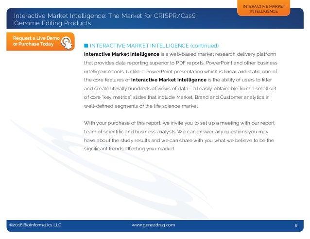 @2013 BioInformatics, LLC n www.gene2drug.com n Report #13-005 ©2016 BioInformatics LLC www.gene2drug.com 9 Interactiv...