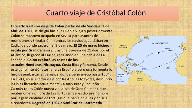 Cristobal colon for Cuarto viaje de cristobal colon