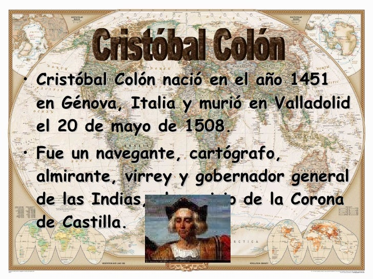 Biografia de cristobal colon resumida yahoo dating 8