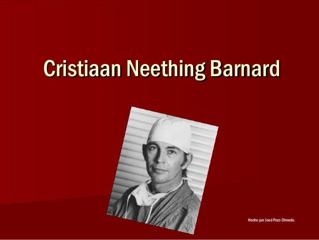 Cristiaan Neething BarnardCristiaan Neething BarnardHecho por José Pozo Olmedo.