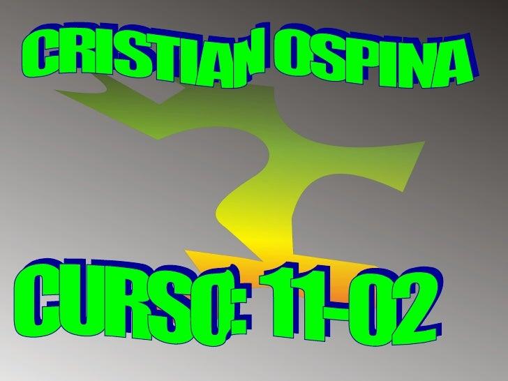 CRISTIAN OSPINA CURSO: 11-02