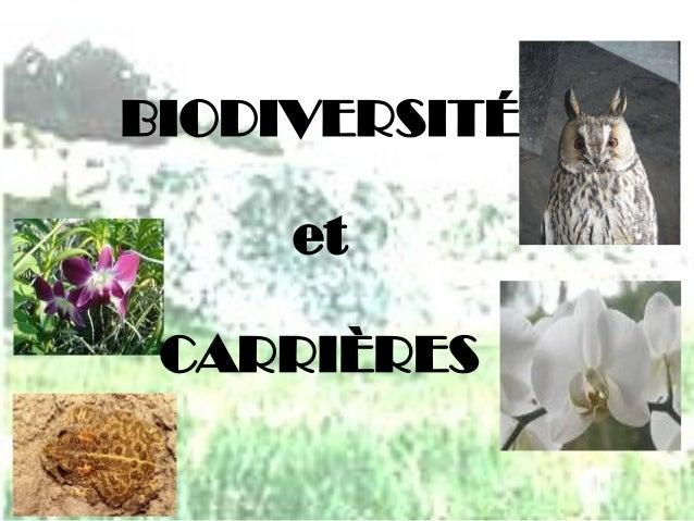BIODIVERSITÉetCARRIÈRES
