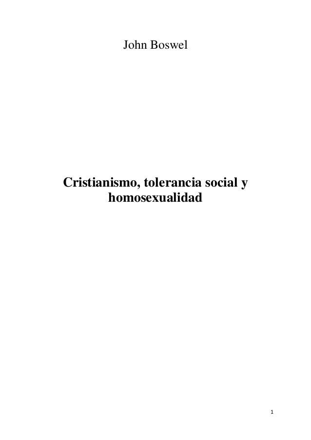 John Boswel  Cristianismo, tolerancia social y homosexualidad  1