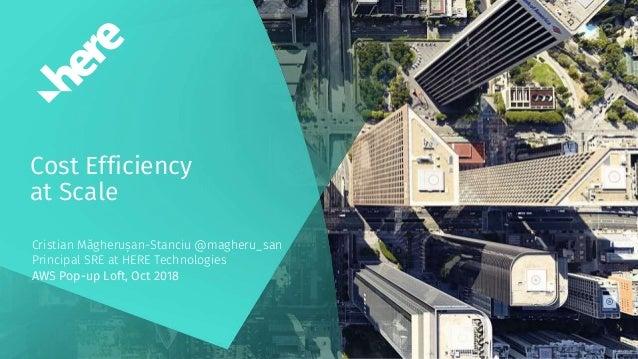 Cost Efficiency at Scale Cristian Măgherușan-Stanciu @magheru_san Principal SRE at HERE Technologies AWS Pop-up Loft, Oct ...