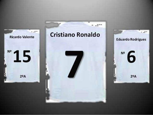Ricardo Valente  15 2ºA  Cristiano Ronaldo  7  Eduardo Rodrigues  Nº  6 2ºA