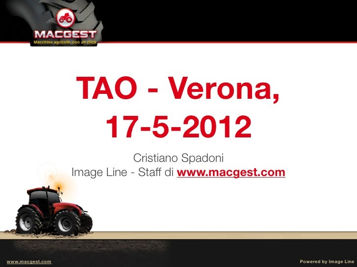 Tao Tractor Agricultural Observatory Relazione Su
