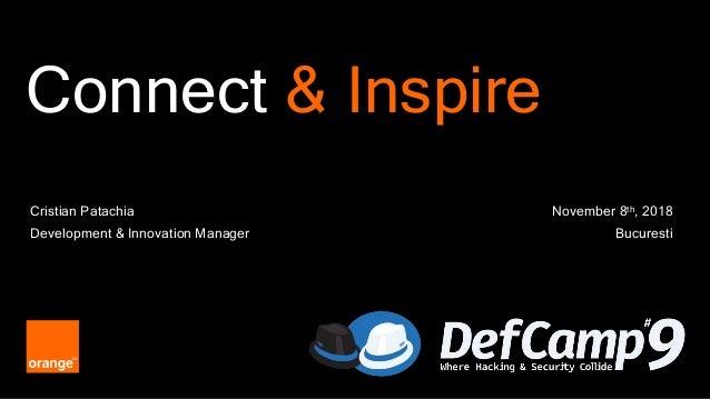 1 Connect & Inspire November 8th, 2018 Bucuresti Cristian Patachia Development & Innovation Manager