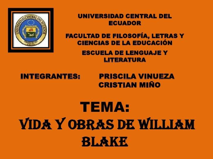 UNIVERSIDAD CENTRAL DEL                   ECUADOR         FACULTAD DE FILOSOFÍA, LETRAS Y            CIENCIAS DE LA EDUCAC...