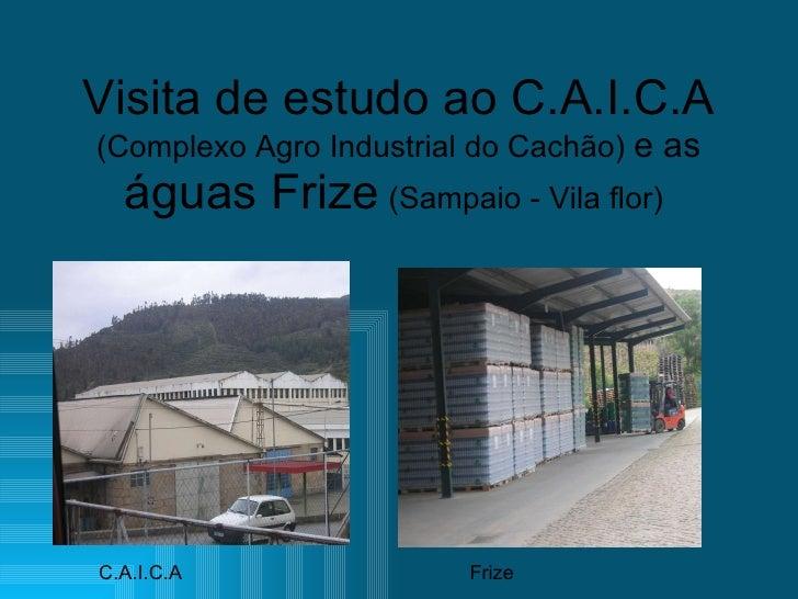 Visita de estudo ao C.A.I.C.A (Complexo Agro Industrial do Cachão)  e as  águas Frize  (Sampaio - Vila flor)   C.A.I.C.A F...