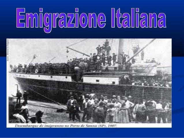    -Fra il 1880 e il 1915 approdano negli Stati Uniti quattro    milioni di italiani,su nove milioni circa di emigranti ...
