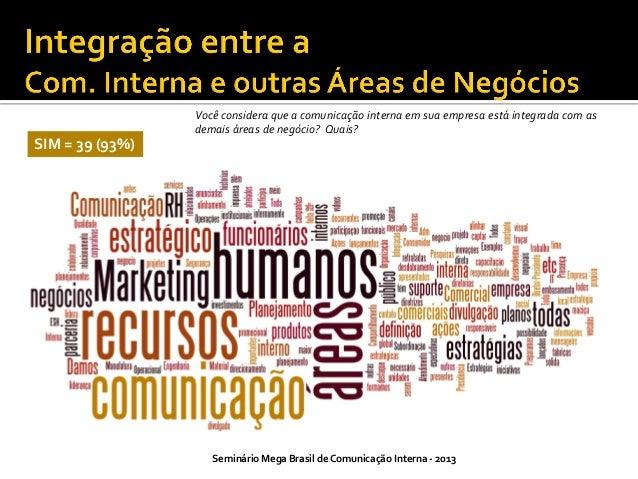 Clientes Internos  A equipe de comunicação interna atua como conselheira dos clientes internos (departamento Jurídico, RH,...