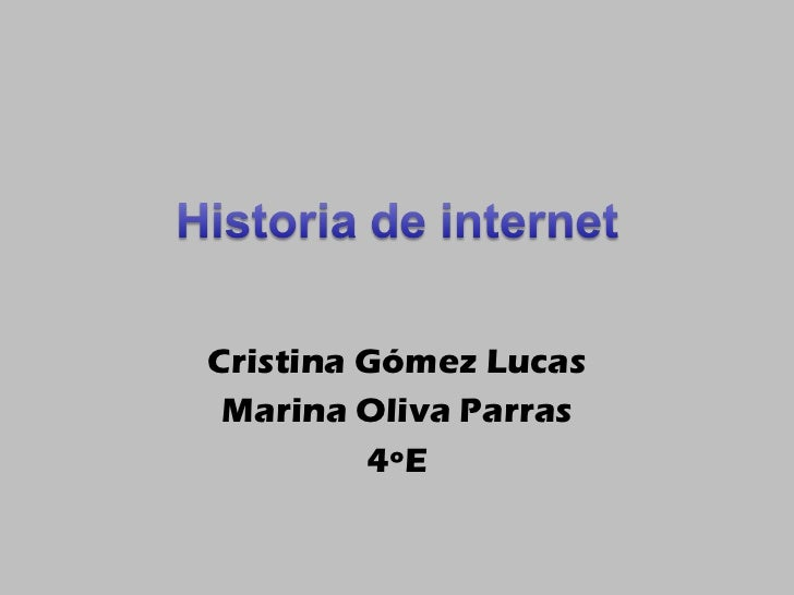 Cristina Gómez Lucas Marina Oliva Parras 4ºE