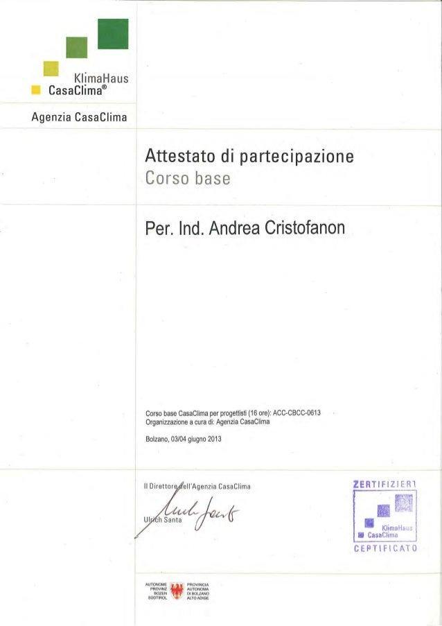 Cristofanon Andrea - Curriculum Vitae - Nov.2013