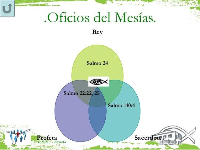 .Oficios del Mesías.                         Rey                       Salmo 24              Salmo 22:22, 25              ...