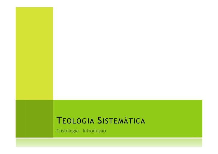 T EOLOGIA S ISTEMÁTICA