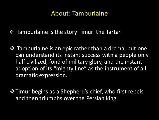 Tamburlaine summary