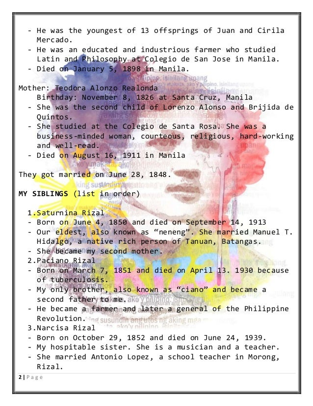 recommendation of rizal life works Free essays on jose rizal recommendation of his good search results for 'jose rizal recommendation of his good attitude' rizal's life and works.