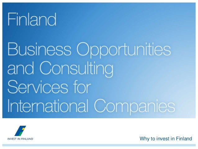 Why to invest in Finland