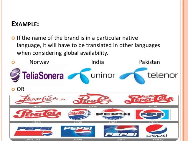 Criteria for selecting brand elements