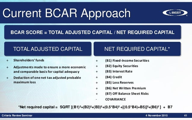 Criteria Review Seminar 2015 Stochastic Based Bcar Best S Capital A