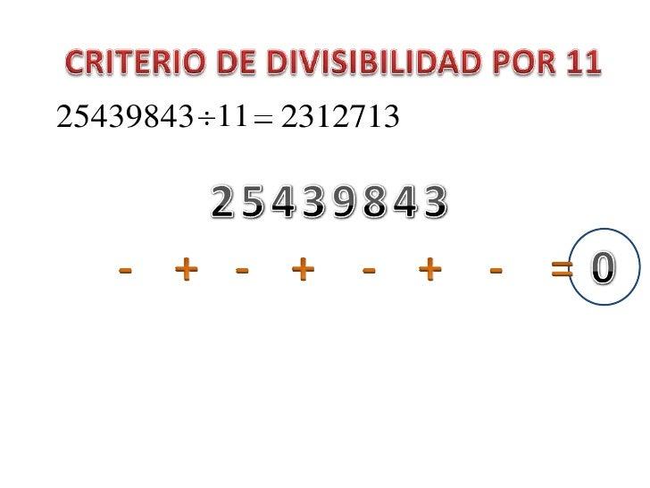 Criterio de divisibilidad 11 Slide 2