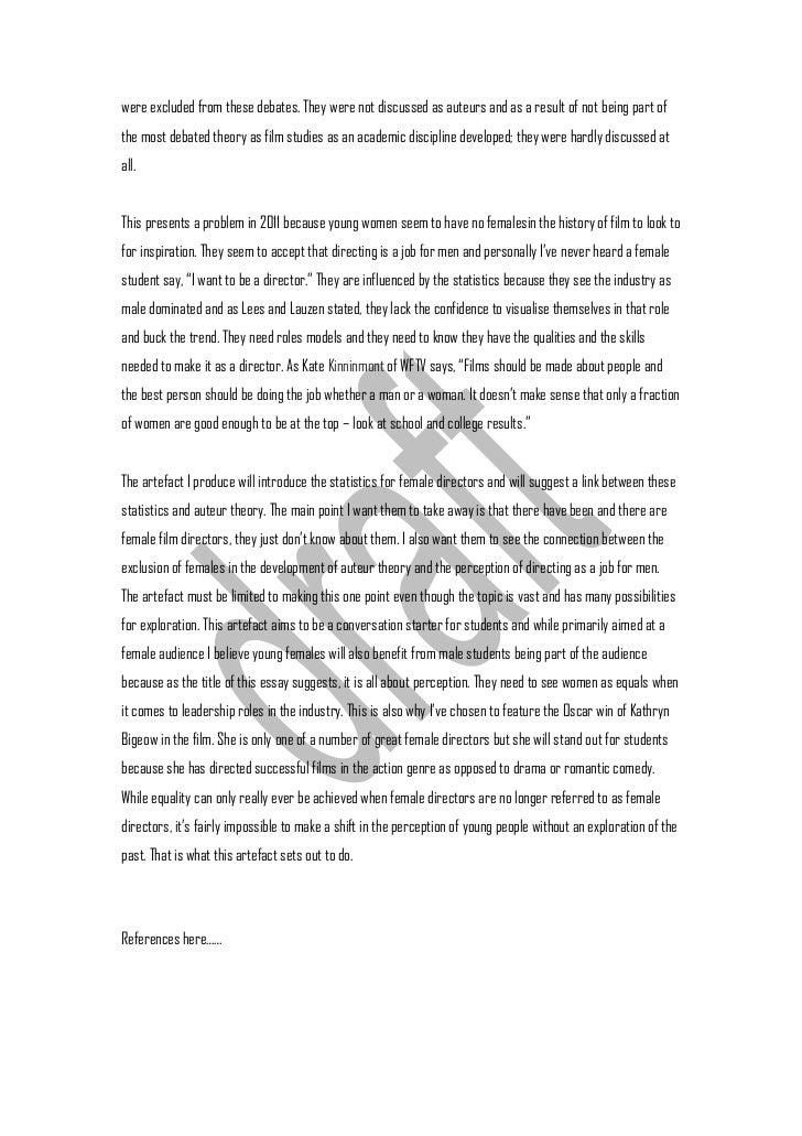 criterion one essay 3 were