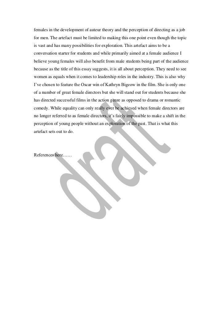 criterion one essay 4 females