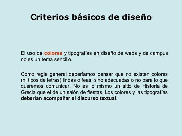 criterios b sicos de dise o web