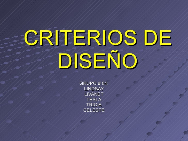 Criterios de Diseño Rastro Municipal