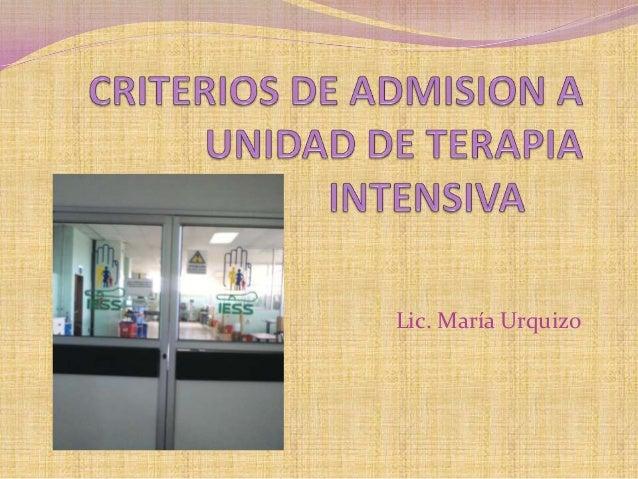 Lic. María Urquizo