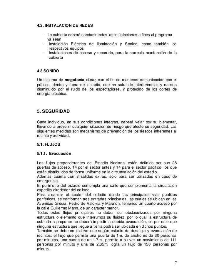 4.2. INSTALACION DE REDES   - La cubierta deberá conducir todas las instalaciones a fines al programa     ya sean   - Inst...