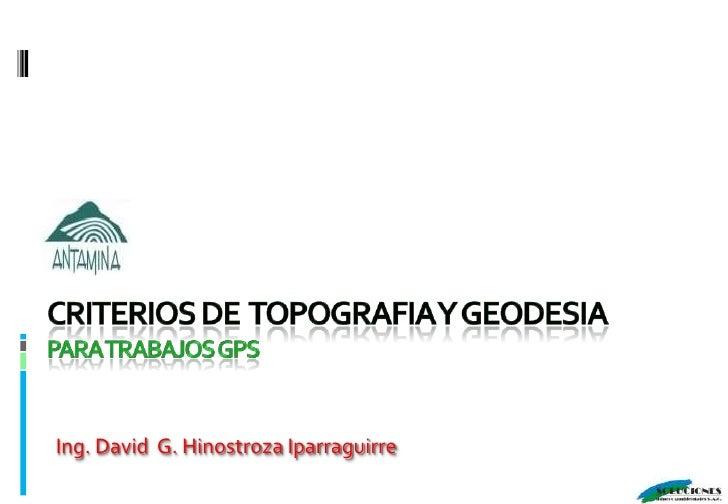 Criterios De  Topografía y Geodesia