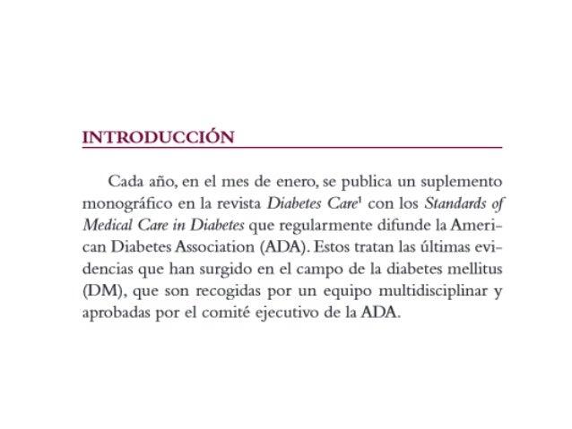 Criterios diagnósticos para el diagnóstico de la diabetes