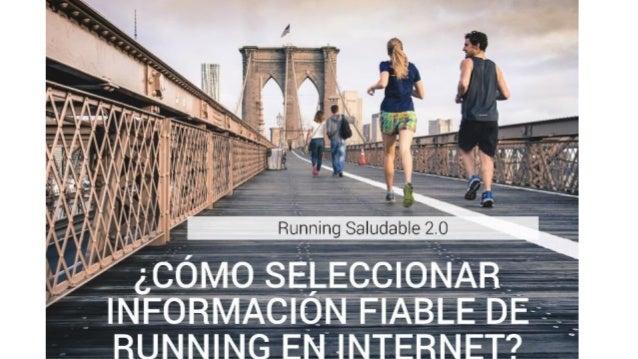 ¿Cómo seleccionar información fiable de running en Internet?