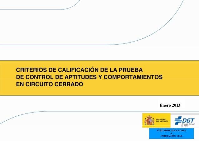Enero 2013    UNIDAD DE EDUCACIÓN             Y1     FORMACIÓN VIAL