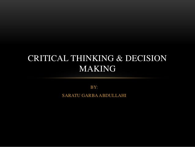 importance of critical and creative thinking to an individual Finding the right dsst exam for you congratulations you've decided to pursue a college degree so, one approach to figuring out which dsst exam is best suited to your needs is to think about subject areas that complement your desired field of.