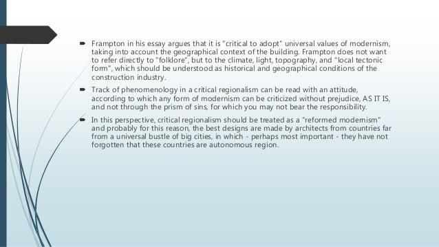 Examples List on Regionalism
