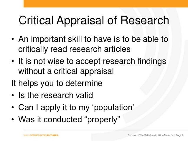 critical value determination associated with some explore piece of writing ppt